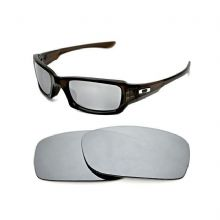 NEW POLARIZED CUSTOM SILVER ICE LENS FOR OAKLEY FIVES SQUARED SUNGLASSES